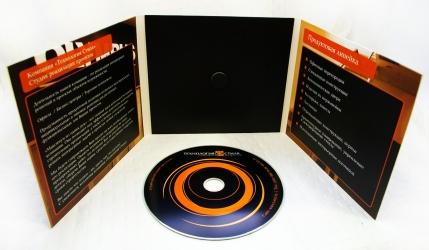 Дигипак CD формата 6 полос на 1 диск, крепление диска на спайдер