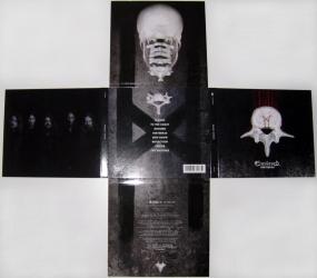 Digipak CD для 1 диска в форме креста, вид на разворот.