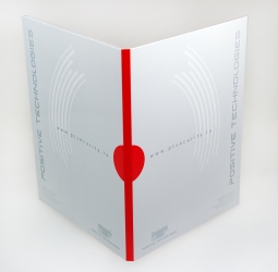 Диджипак DVD формата, 4 полосы, на 1 диск. Вид на разворот.