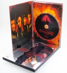 Дигипак DVD формата с одним треем + металлизированный слипкейс