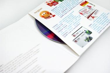 Дигислив CD формата, крепление диска в карман.