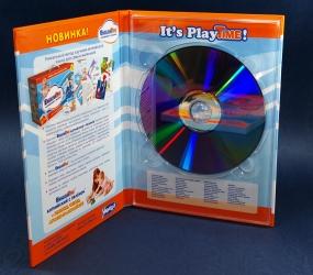 Hardback DVD формата на 1 диск. Вид изнутри