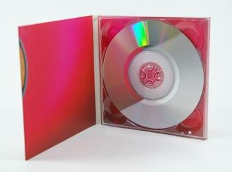 Digipack mini DVD для 1 диска, вид на разворот и диск.
