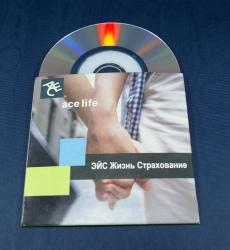 Конверт для 1 мини СД диска, лицевая сторона.