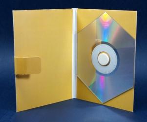 Digipak, вид на внутренний разворот, shape-CD диск.