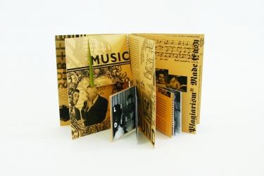 Уникальная упаковка для CD дисков, вид на разворот.