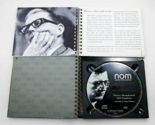 Блокнот на пружине с CD диском. Вид изнутри