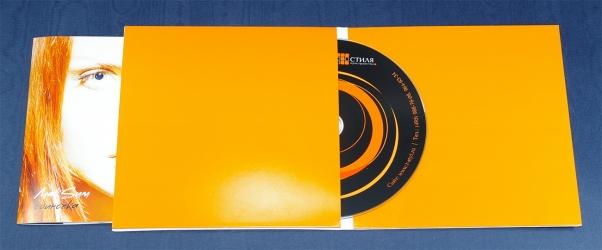 Конверт из двух отсеков, для диска и буклета