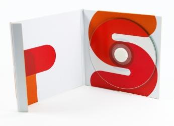 Дигипак для mini-CD диска со спайдером, на магнитной защелке, вид изнутри
