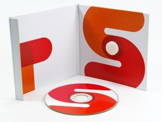 Digipack для mini-CD диска, печать по диску офсетом, крепление диска на спайдер