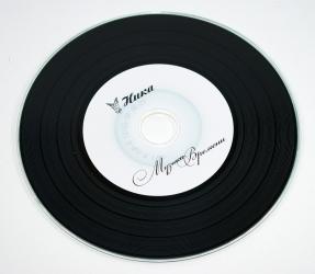 Vynil CD, виниловый компакт диск, печать по диску шелкографией.