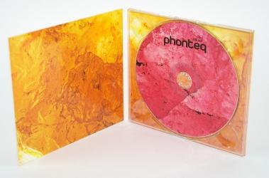 Дигипак CD формата для 1 диска, вид изнутри, крепление диска в трей