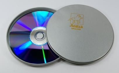 Тин бокс круглый, диск внутри