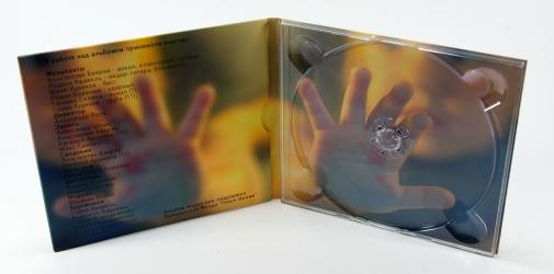Диджипак СД для 1 диска, вид на разворот и карман для постера.