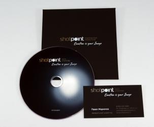 Конверт с клапаном под DVD + DVD диск + визитка.