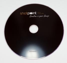 Печать по DVD диску шелкографией.