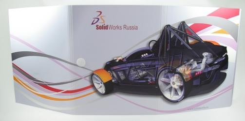 Дигифайл DVD формата, 6 полос, 6 дисков. Вид на разворот