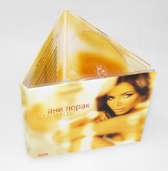 Дигипак CD формата на 2 диска, крепление дисков в трей