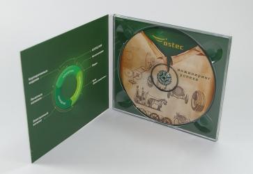DJ pack CD формата для 1 диска. Вид изнутри, крепление диска в трей.