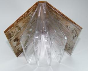 Digistack DVD формата на 5 дисков. Крепление дисков в пластиковые треи