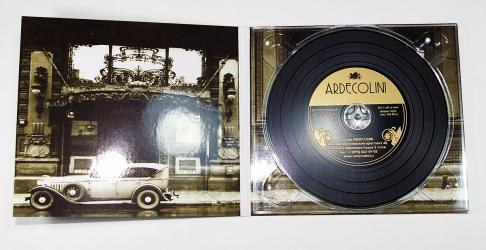 Диджипак CD для 1 диска, диск под винил, вид изнутри.