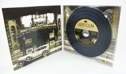 Digipack CD для 1 диска, диск под винил, крепление диска в трей