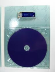 Крепление диска на трей, крепление флешки в вырезе картона.