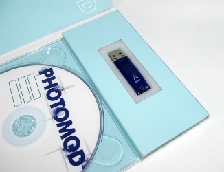 Digipack DVD формата для 1 диска, поролоновый ложемент для флешки