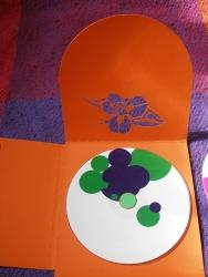 Креативная нестандартная вырубка на полосах диджипака - цветок