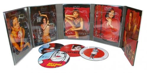 Диджипак DVD формата, 10 полос, 4 диска, карман - полный разворот.