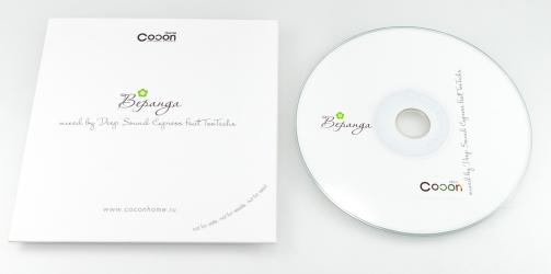 Картонный конверт для CD с печатью.