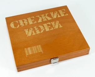 Деревянная шкатулка для 1 СД диска.