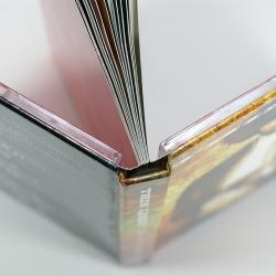Дигибук, вид на корешок, треи приклеены к обложке.