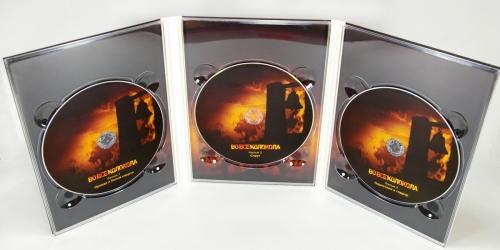 Digipack DVD для 3 дисков, вид на разворот и диски.