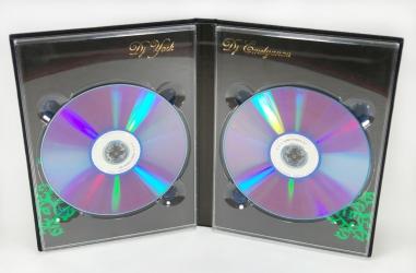 Хардбэк DVD для 2-х дисков, вид на разворот.