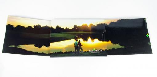 Burgopack для 1 ДВД диска и серии открыток, развернутый вид.