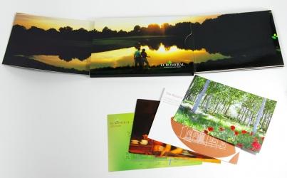 Бургопак, вид на разворот и открытки.