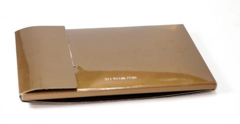 Дигипак для CD визитки, оборотная сторона, конструкция закрывается клапаном.