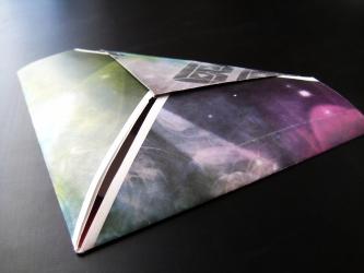 Индивидуальный конверт оригами для 1 СД диска, вид на оборотную сторону.