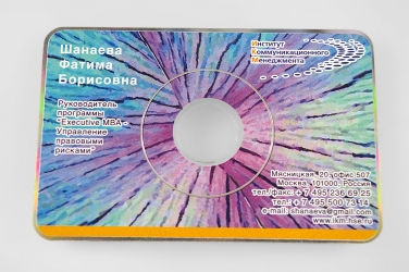 Производство и тиражирование CD-card, CD визиток, DVD визиток.