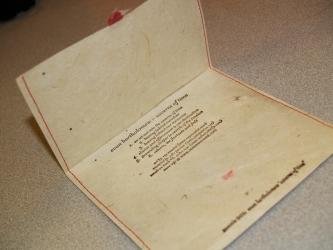 Конверт из дизайнерской бумаги, печать шелкографией.