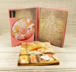 Вид на разворот и карман для открытки, крепление диска на спайдер.
