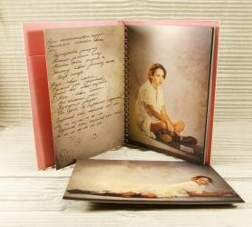 Открытка и альбом на пружине с креплением для 2 CD дисков.