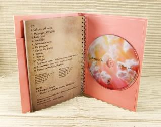 Вид на разворот альбома и крепление СД диска.