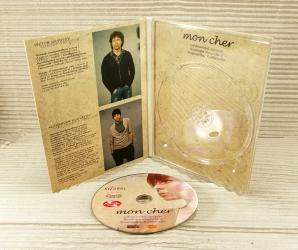 Digipack для 1 DVD диска, крепление диска на трей.