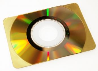CD визитка, золотое зеркало