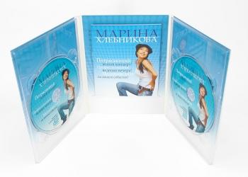 Дигипак DVD 6 полос 2 трея + буклет. Буклет крепиться в прорезь