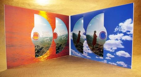 Digifile DVD 4 полосы на 4 диска. Вид изнутри.