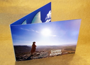 Дигифайл DVD 4 полосы на 4 диска горизонтальной ориентации