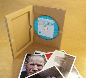 Гофропак DVD формата с ложементом для открыток.